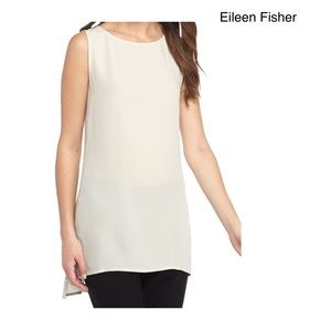 Eileen Fisher 100% Silk Asymmetrical Tunic LG